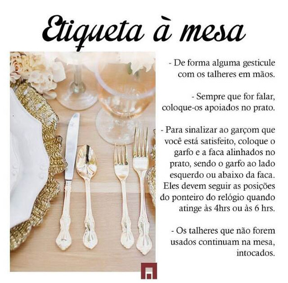 Etiqueta a mesa!!!