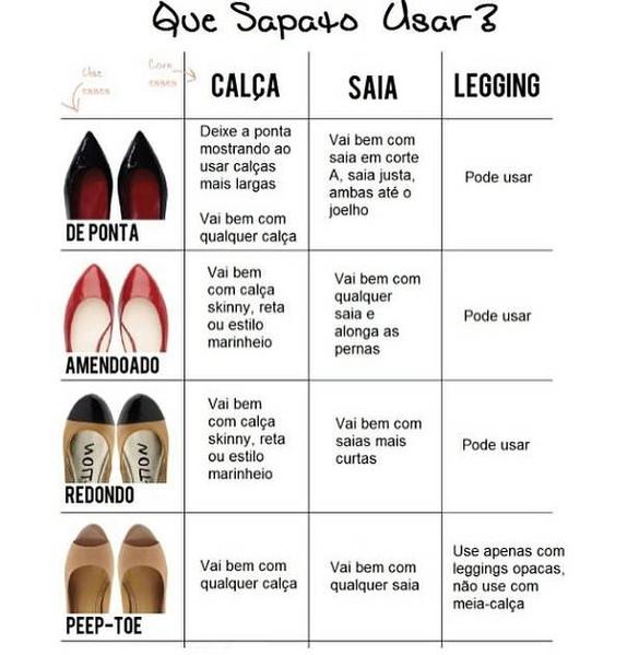 Escolha o sapato que mais combina com sua roupa!