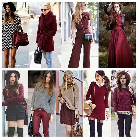 No outono o marsala vai continuar reinando, lindas sugestões de looks pra vc arrasar!