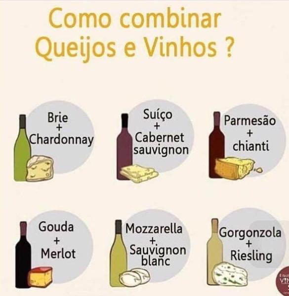 Queijos e Vinhos, qual a combinação?