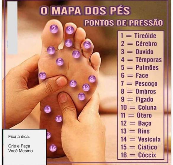 Massagem nos pés é tudo de bom e ainda faz bem pra saúde.