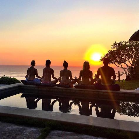 Poolside Sunset Meditation Uluwatu