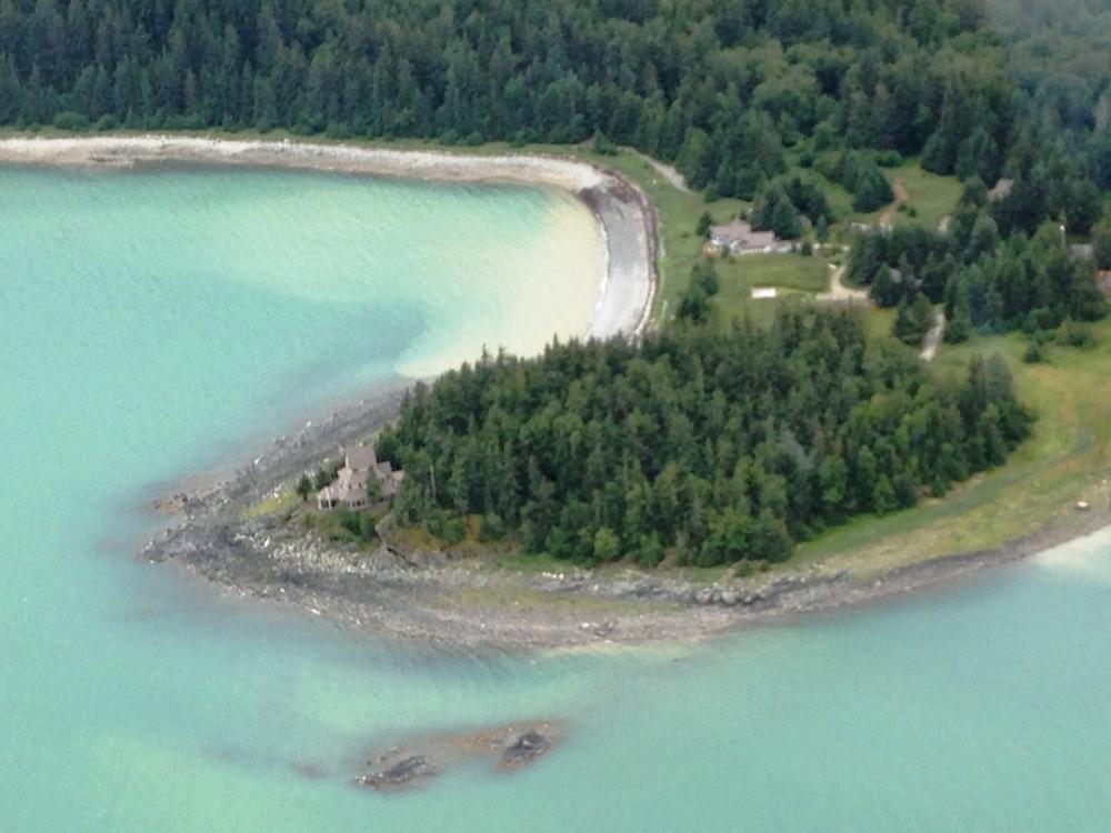 Aerial View Viking Cove - Haines Alaska.