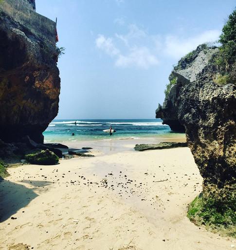 Uluwatu Beach Famous Surf Spot