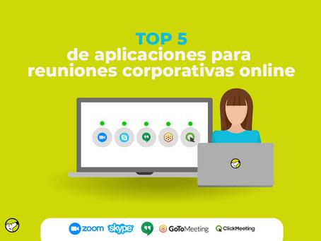 Top5 de aplicaciones para reuniones corporativas online