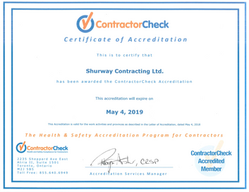 Reaccredited for Contractor Check