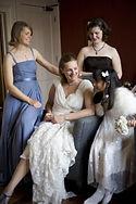 Wedding photography, bridesmaids, bride