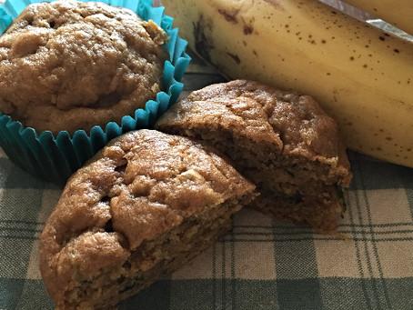 Whole Wheat Banana Zucchini Muffins