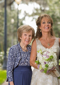 Bride Jane and her sweet Mom