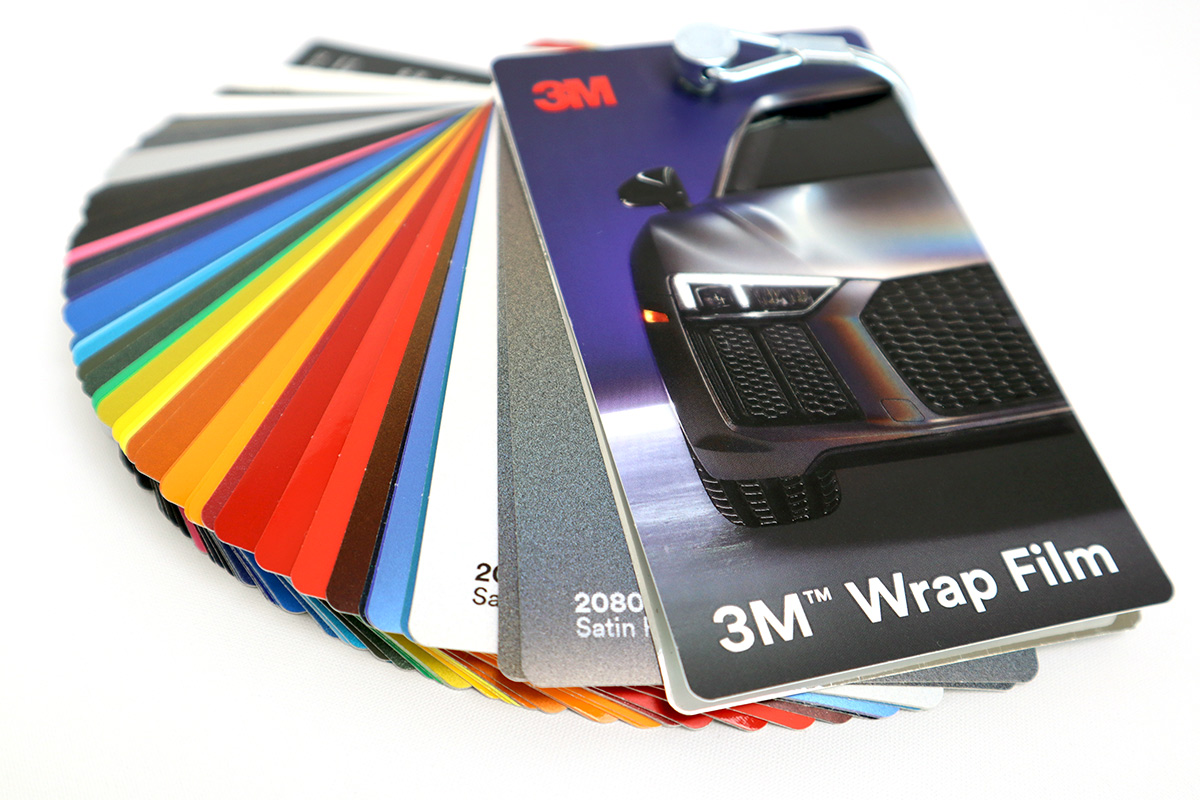 An array of 3M Vehicle Wrap Vinyl