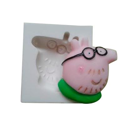 PAPAI PIG - MOLDE DE SILICONE BRANCO