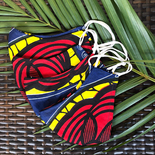Kitenge Waist Bag (red/blue/yellow)