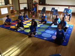 Kindergarten Watching a Quaver Music Vid