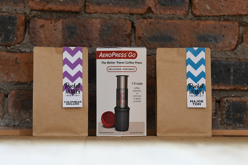 AeroPress Go + Colombian and Major Tom (250g)