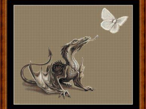 Dragon with Butterfly