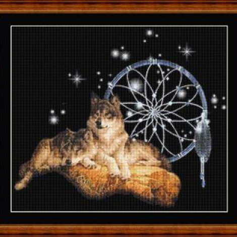 Wolves with Dreamcatcher
