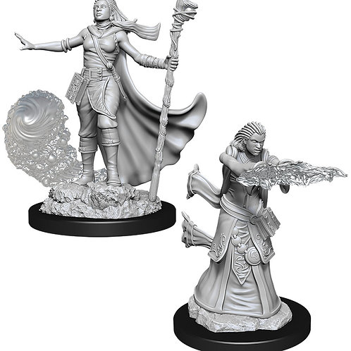 D&D  Unpainted Miniatures: W11 Female Human Wizard