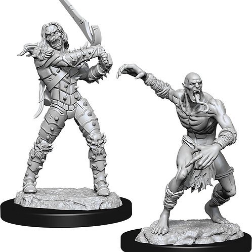 D&D Unpainted Miniatures: W11 Wight & Ghast