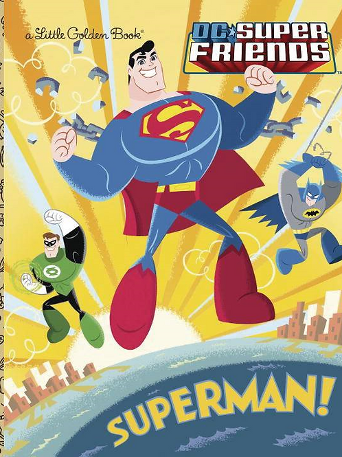 DC SUPER FRIENDS SUPERMAN LITTLE GOLDEN BOOK HC