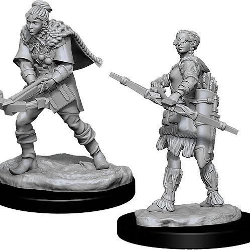 D&D  Unpainted Miniatures: W11 Female Human Ranger
