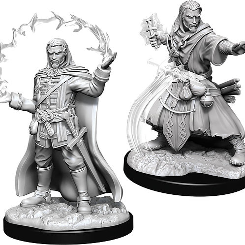 D&D  Unpainted Miniatures: W11 Male Human Wizard