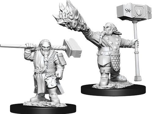 D&D  Unpainted Miniatures: W11 Male Dwarf Cleric