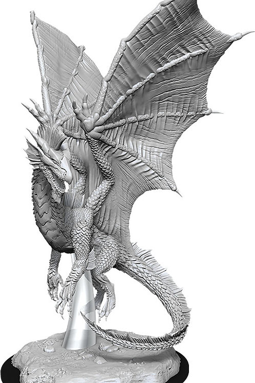 D&D Unpainted Miniatures: W11 Young Silver Dragon