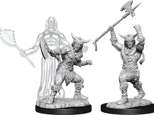 D&D  Unpainted Miniatures: W11 Male Human Barbarian