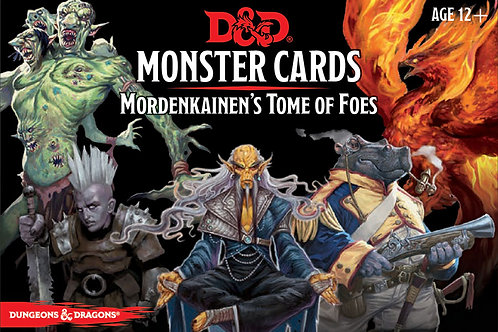 Dungeons and Dragons RPG: Monster Cards - Mordenkainen`s Tome of Foes (109 cards