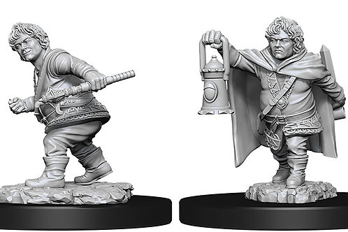 D&D  Unpainted Miniatures: W11 Male Halfling Rogue