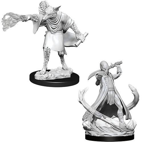 D&D  Unpainted Miniatures: W11 Arcanaloth & Ultroloth
