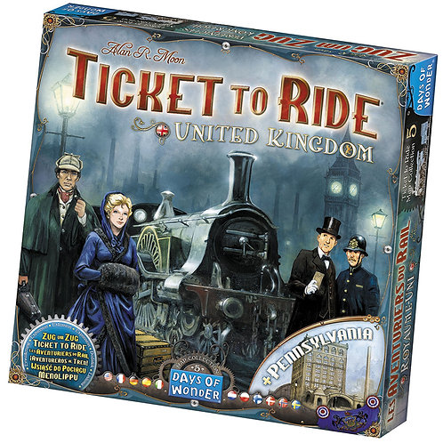 Ticket To Ride Map Collection V5 - United Kingdom and Pennsylvania