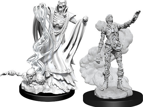 D&D Unpainted Miniatures: W11 Lich & Mummy Lord
