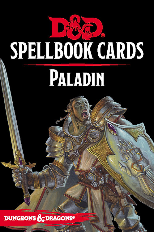 Dungeons and Dragons RPG: Spellbook Cards - Paladin Deck (69 cards)