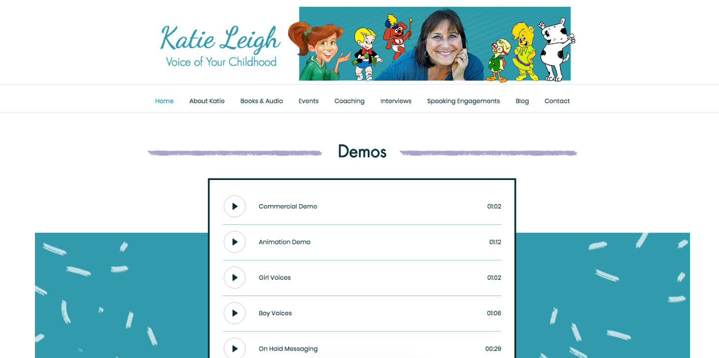 Katie Leigh, Voice of Your Childhood