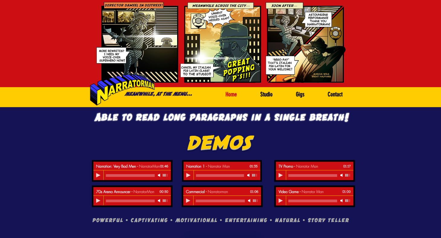 Narratorman Website