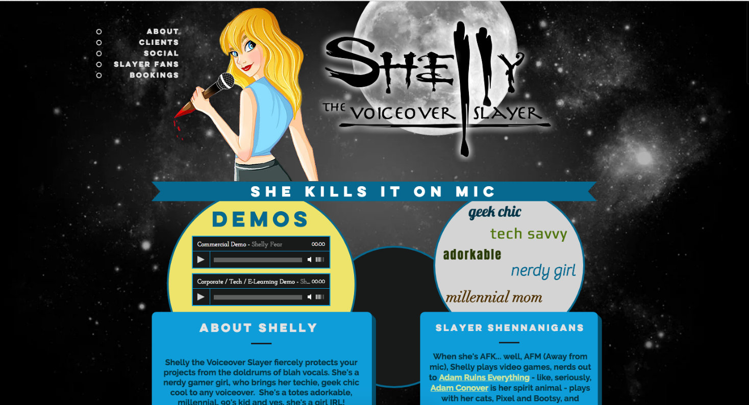 Shelly The Voiceover Slayer