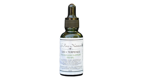 CBD + Terpenes: Focus/Lung Support