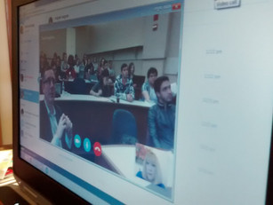 Partners for Responsible Trade addresses students at the University of Chicago via Skype