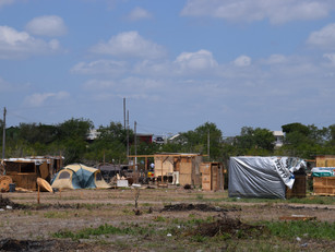 A pop-up Housing Community in Reynosa Mexico housing people seeking work in the nearby factories.