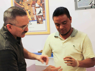 Carlos Receives a Prosthetic Hand In Reynosa