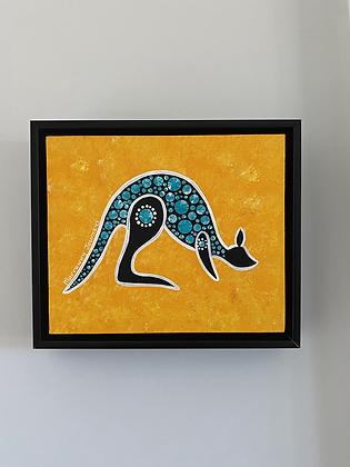 Journey (kangaroo) - 10x12  inches (framed)