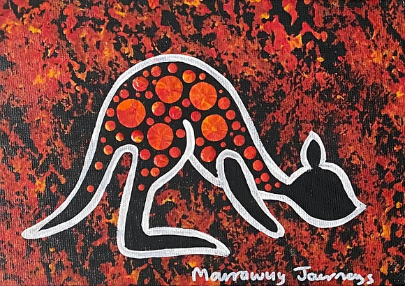 Journey (kangaroo) - 5x7 inches (framed)