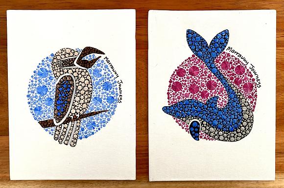 Four qualities (set of 4 fine art prints) ($120-$250)