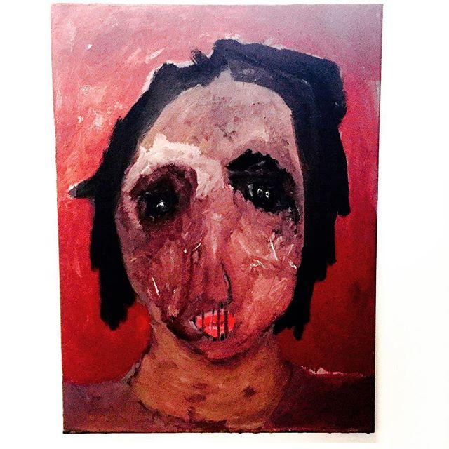 _Souvenirs_ travail en cours _#kol #joie portrait  #souvenirs #painting #contemporaryart #swissart #
