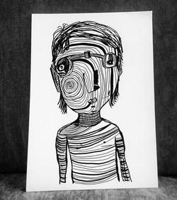 _Face aux contrariétés_ drawing during l