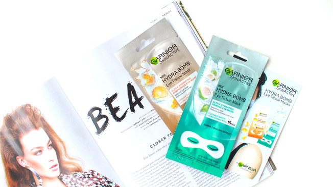 GARNIER HYDRA BOMB EYE TISSUE MASK | MINI REVIEW
