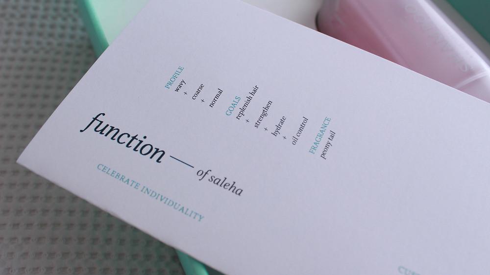 Function of ~ Saleha