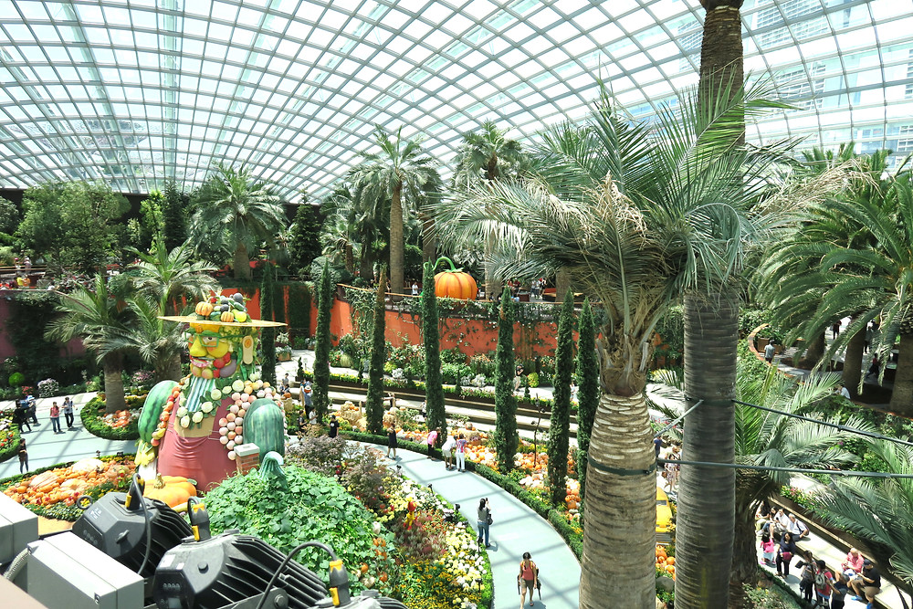 Flower Dome, at Gardens by the Bay