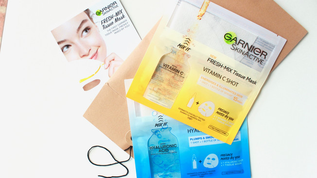 GARNIER FRESH-MIX TISSUE MASK | MINI REVIEW